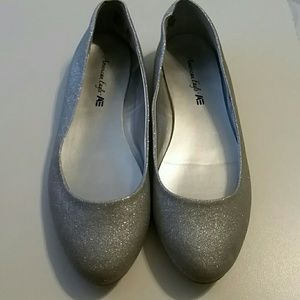 Sparkly Silver Shoes